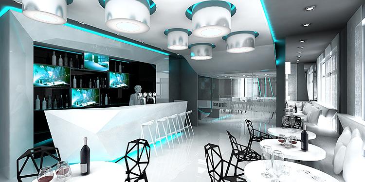 luksusowe wnętrze baru hotelowego