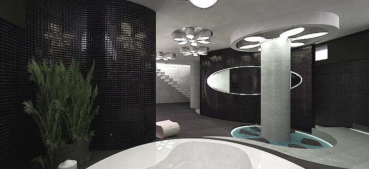 nowoczesne wnętrze salonu spa