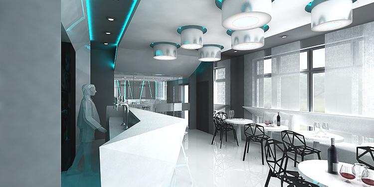 nowoczesne wnętrze restauracji w hotelu