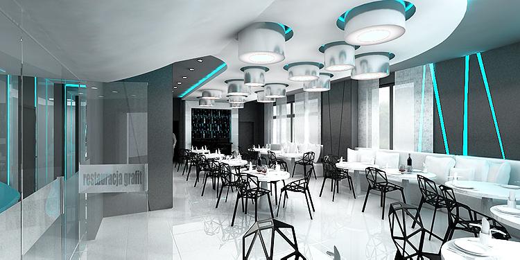 designerski projekt wnętrza restauracji