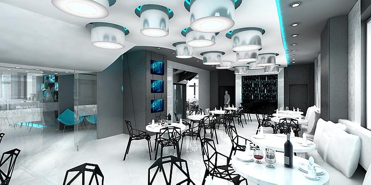 projekty wnętrza luksusowej restauracji