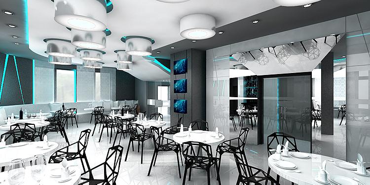 projektowanie wnętrz nowoczesnego hotelu - restauracja