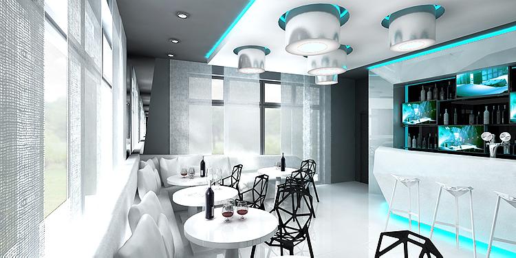 resteuracja hotelowa - nowoczesna aranżacja wnętrza