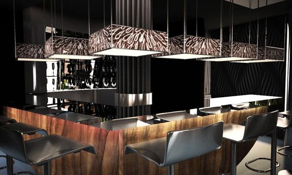 nowoczesne wnętrze pubu