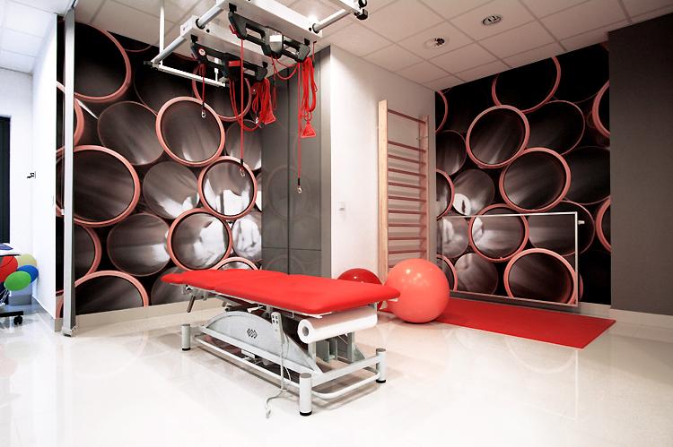 gabinet rehabilitacyjny - designerski projekt wnętrza