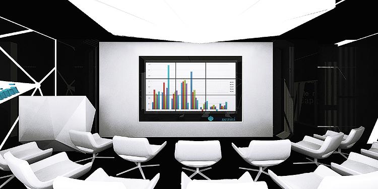 wnętrze biurowe - presentation room