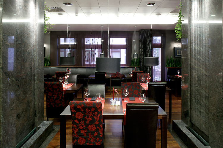 architektura wnętrza hotelowej restauracji