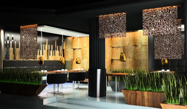 aranżacja designerskiego wnętrza kawiarni