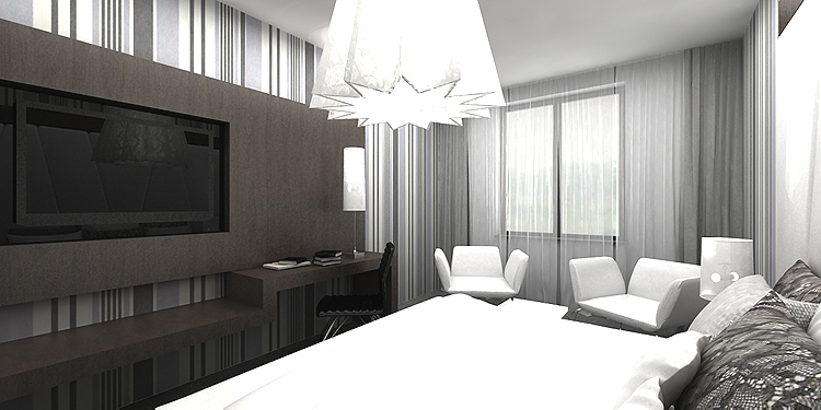 pokoje hotelowe - architektura wnętrza