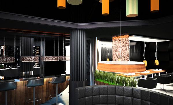 architekci wnętrza nowoczesnej restauracji