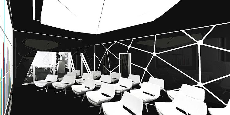 nowoczesne wnętrza biura - innovation room
