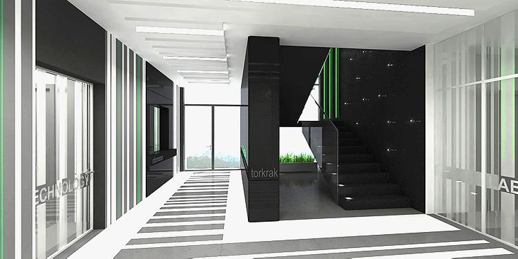 designerskie projekty wnętrz holu głównego