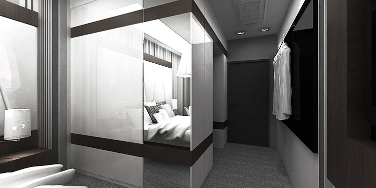 nowoczesne wętrze hotelowe - pokoje
