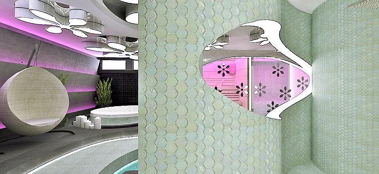 designerskie wnętrze salonu spa