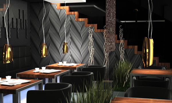 designerskie wnętrze kawiarni
