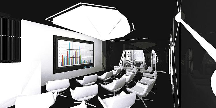 nowoczesny projekt wnętrza sali pokazowej