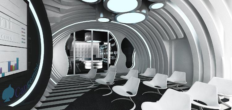 projekty wnętrza biurowego