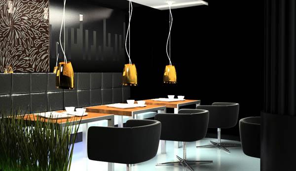 projektowanie nowoczesnego wnetrza restauracji