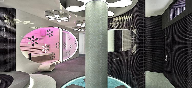 designerskie wnętrza salonu spa - łaźnia