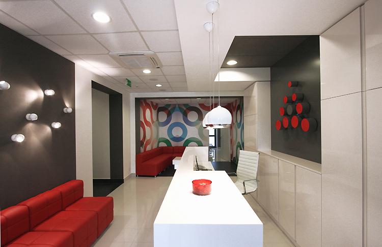 nowoczesne wnętrze centrum medycznego