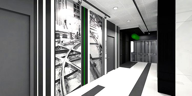 architektura wnętrz biurowca - hol
