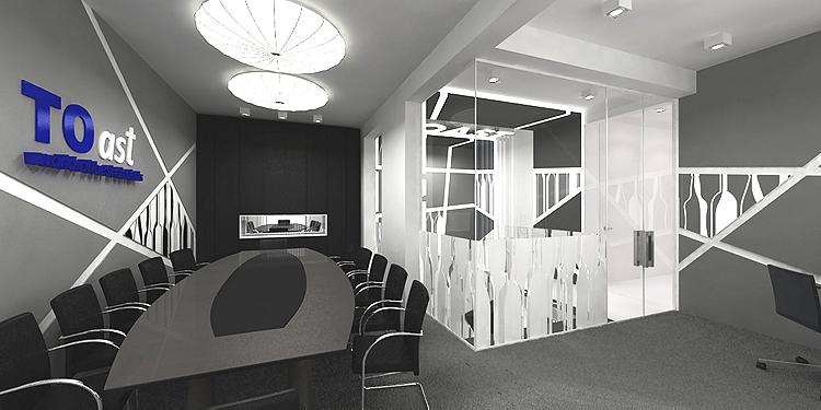 projekt wnętrza sali konferencyjnej