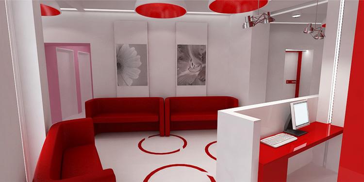 wnętrze poczekalni w centrum ginekologicznym