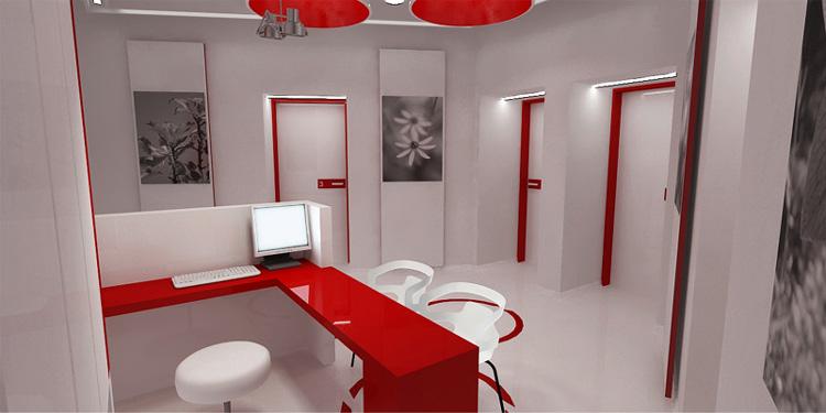 projekt wnętrza kliniki