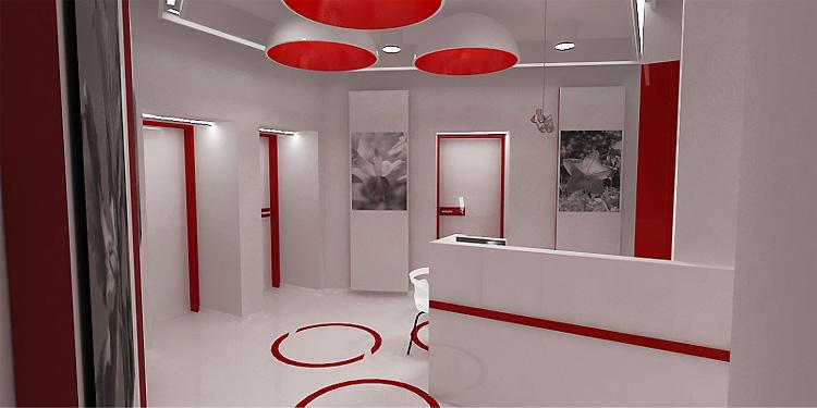 nowoczesny projekt wnętrza gabinetów ginekologicznych