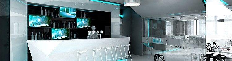 nowoczesne wnętrze baru hotelowego