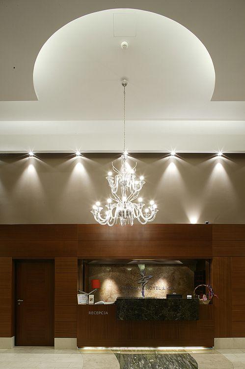 projekt wnętrza recepcja w hotelu