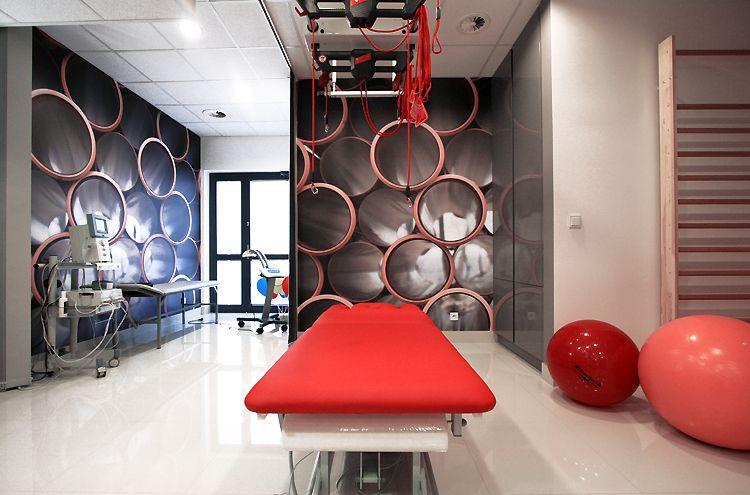 nowoczesne wnętrze gabinetu rehabilitacja