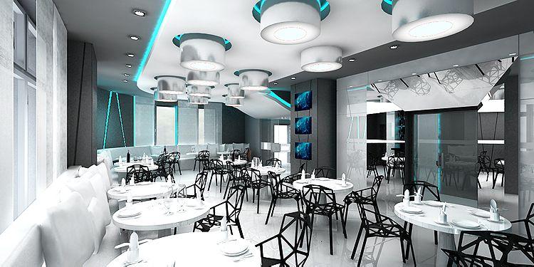 designerskie wnętrze restauracji w hotelu