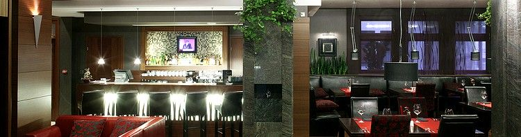 nowoczesny projekt wnętrza restauracji hotelowej