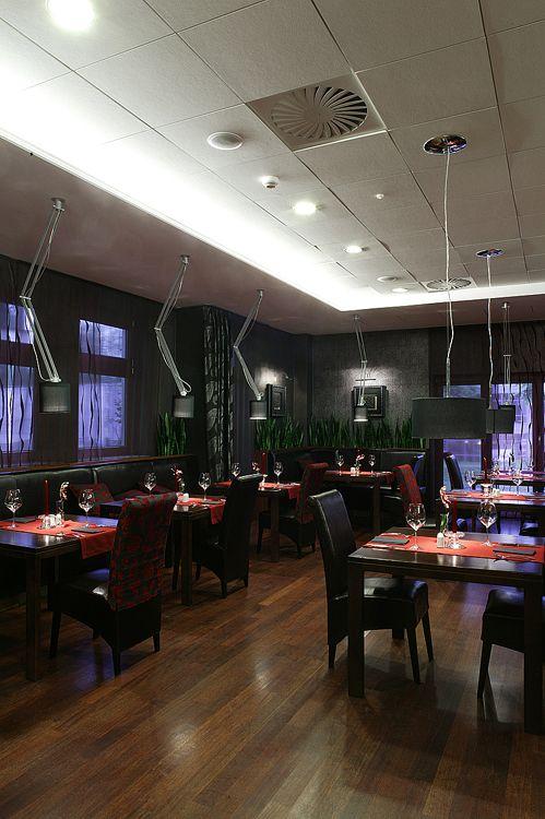 restauracja w luksusowym hotelu - architektura wnętrza