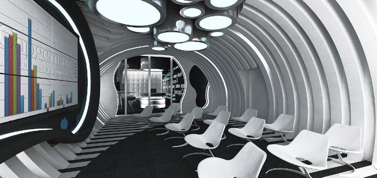 oryginalne projekty wnętrza biurowe