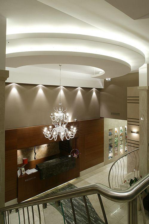 projekty wnętrza recepcji hotelowej