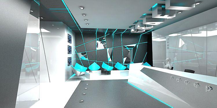 nowoczesne wnętrza hotelowe - recepcja