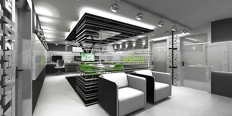 pomieszczenia biurowe - projektowanie wnętrz