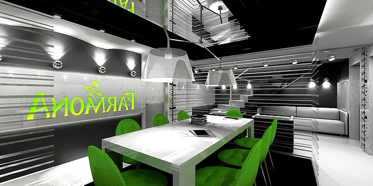 projekt wnętrz pomieszczeń biurowych - open space