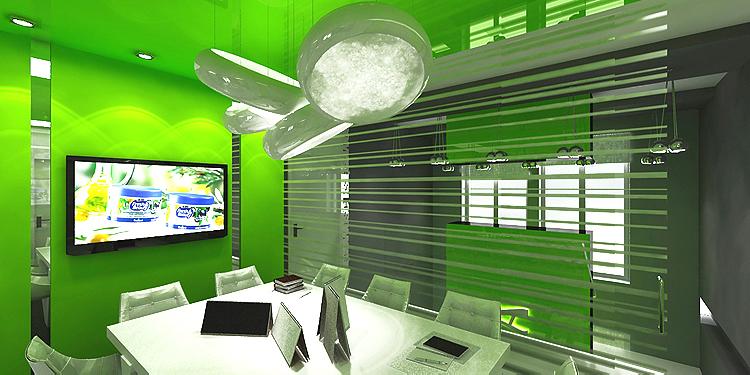 sala konferencyjna w biurowcu - projekt wnętrza