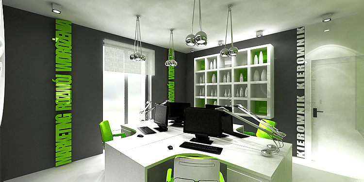 projektowanie wnętrz nowoczesnego gabinetu