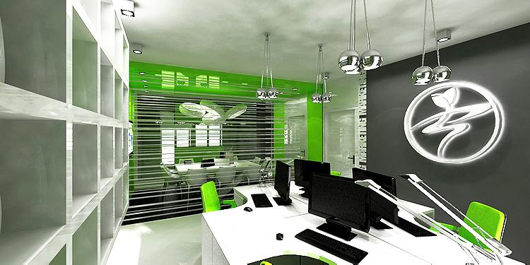 projektant nowoczesnego wnętrza biurowego