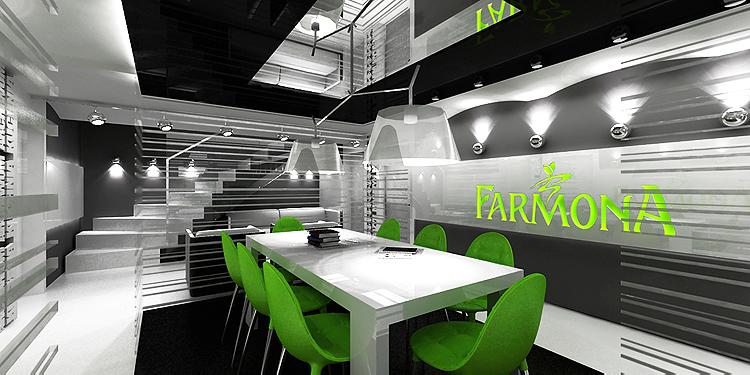 projekty wnętrz biurowych - sala konferencyjna