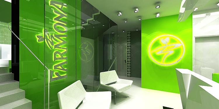 projekt wnętrza biurowca firmowego