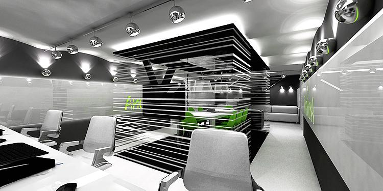nowoczesne wnętrza pomieszczeń biurowych