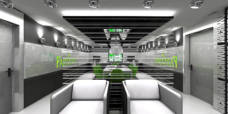 nowoczesny projekt wnętrz pomieszczeń biurowych