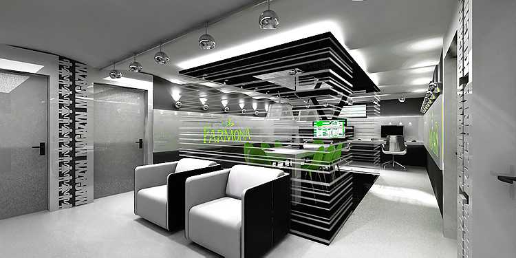 projekt wnętrza biura typu open space