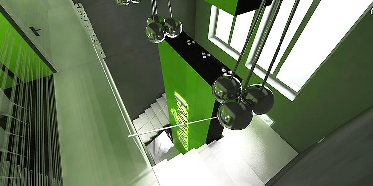 schody w nowoczesnym biurowcu