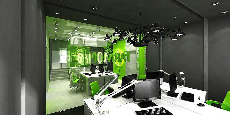 projektowanie wnętrza biurowego - gabinety